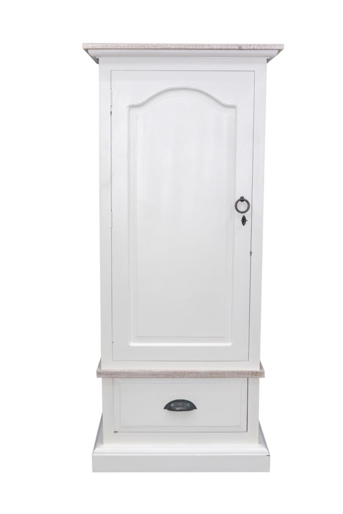 Most Up To Date Single White Wardrobes With Drawers With Regard To Bayou White Single Wardrobe (View 8 of 15)