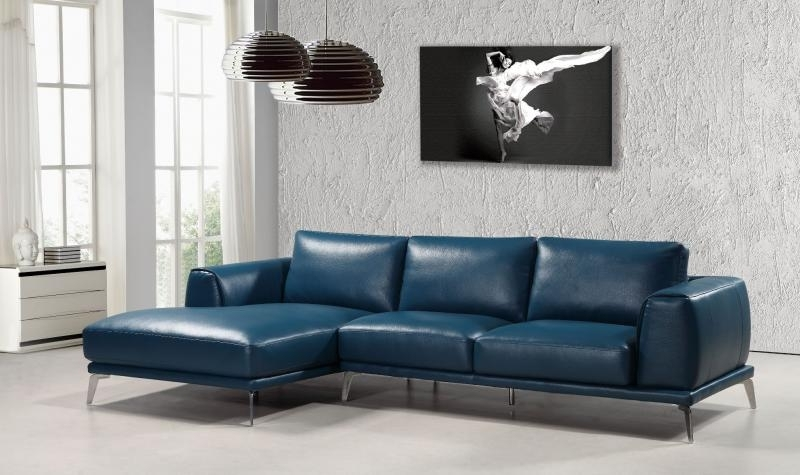 Most Up To Date Soflex Pittsburgh Modern Blue Bonded Leather Sectional Sofa Right With Regard To Pittsburgh Sectional Sofas (View 7 of 10)