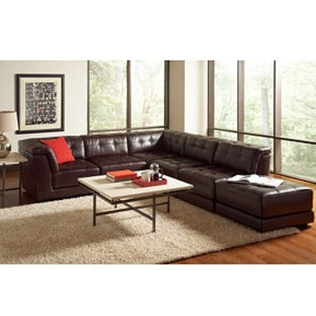 Most Up To Date Stacey Leather 6 Piece Modular Sectional From Macys (View 6 of 10)