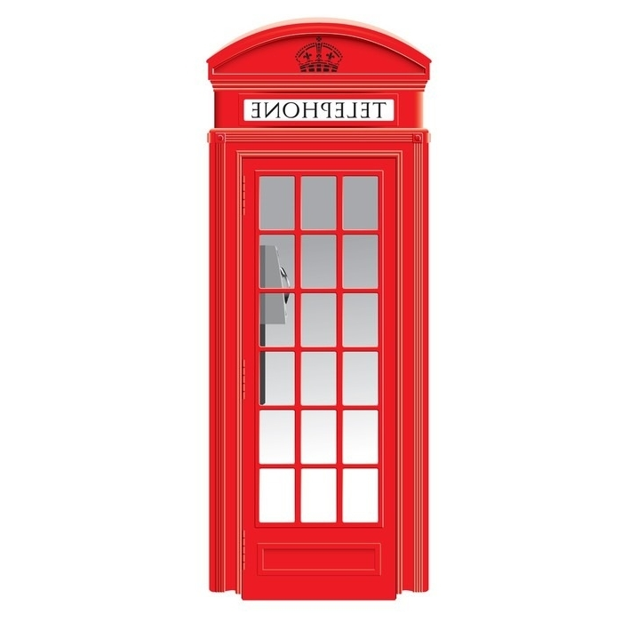 Most Up To Date Telephone Box Wardrobes Regarding Red Telephone Box – London – Vector Wardrobe Sticker • Pixers (View 9 of 15)
