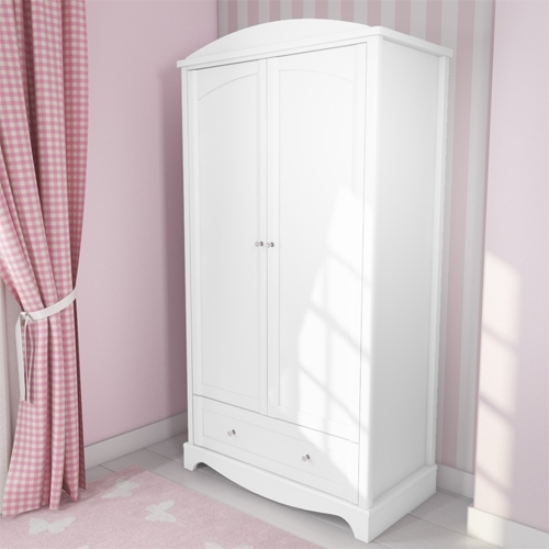 Most Up To Date Victoria Girls White Double Wardrobe (View 9 of 15)