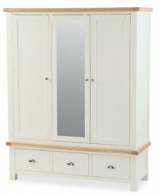Most Up To Date Wardrobe, Furniture Traders Of Thirsk For Cream Triple Wardrobes (View 4 of 15)
