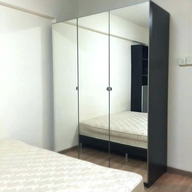 Most Up To Date Wardrobes ~ Full Image For Preloved Ikea Pax 3 Doors Mirrored Within Full Mirrored Wardrobes (View 12 of 15)