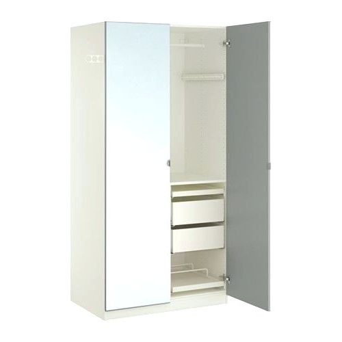 Most Up To Date Wardrobes ~ White Sliding Wardrobe With Mirror Ikea Pax White For Double Wardrobes With Mirror (View 10 of 15)