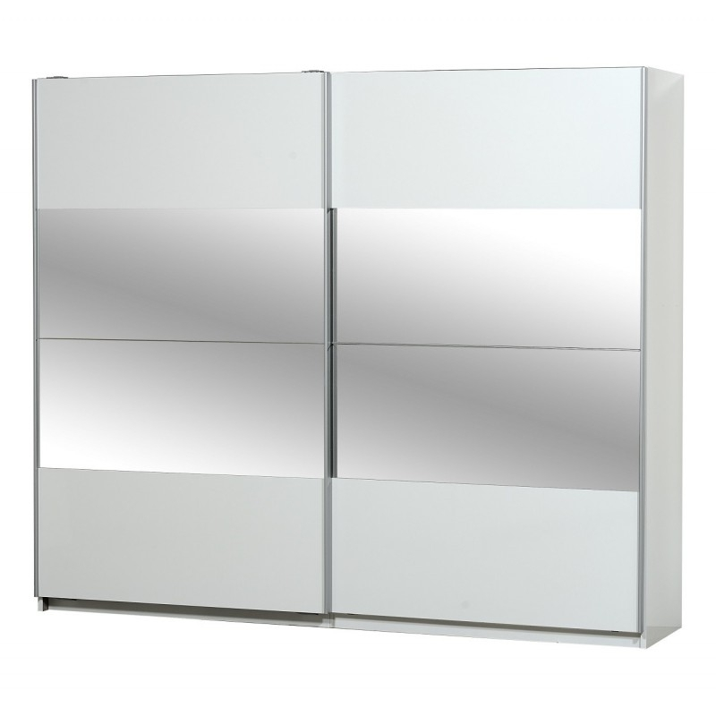 Most Up To Date White Gloss Mirrored Wardrobes For Optimus Large White Gloss Wardrobe With Sliding Doors And Mirror (View 5 of 15)