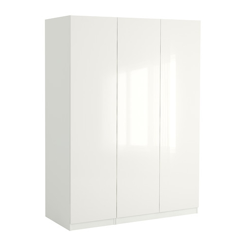 "Most Up To Date White High Gloss Wardrobes Intended For Pax Wardrobe – 59x23 5/8x93 1/8 "" – Ikea (View 4 of 15)"