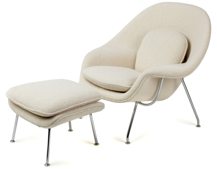Most Up To Date Womb Lounge Chair & Ottoman – Hivemodern Intended For Chairs With Ottoman (View 6 of 10)
