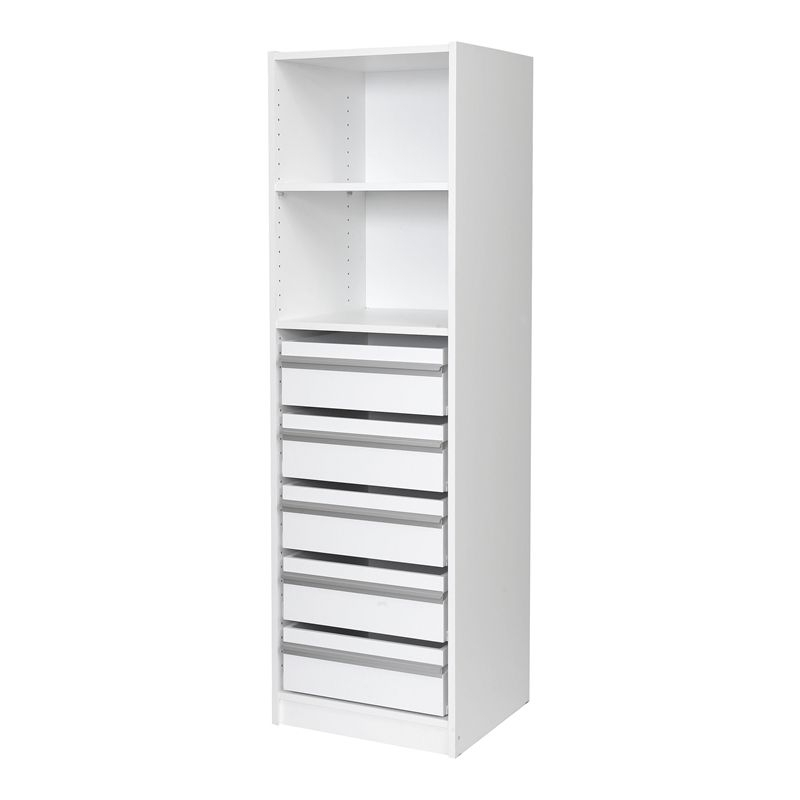 Multistore 1495 X 450 X 430Mm 1 Shelf 5 Drawer Wardrobe Insert I/n Throughout Widely Used Drawers And Shelves For Wardrobes (View 12 of 15)