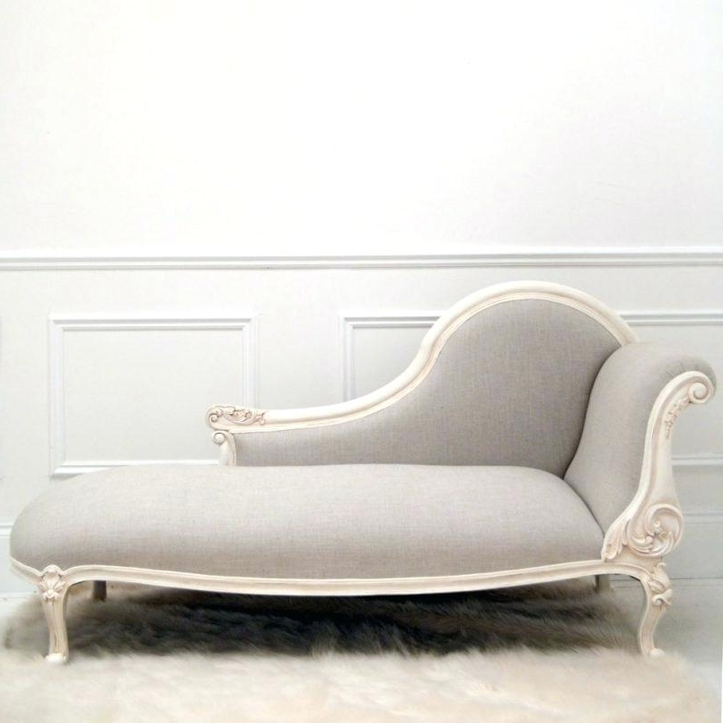 Narrow Chaise Lounge Chairs Pertaining To Most Recently Released Narrow Chaise Lounge Indoor White Inside Idea 10 – Chiefkessler (View 12 of 15)