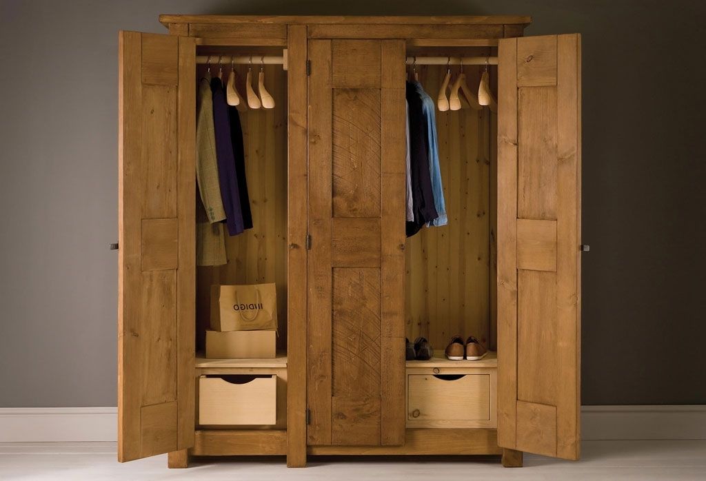 Natural Pine Wardrobes With Most Popular Handcrafted Pine Furniture (View 8 of 15)
