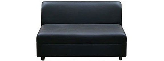 Nautilus Black Intended For Small Armless Sofas (Gallery 5 of 10)