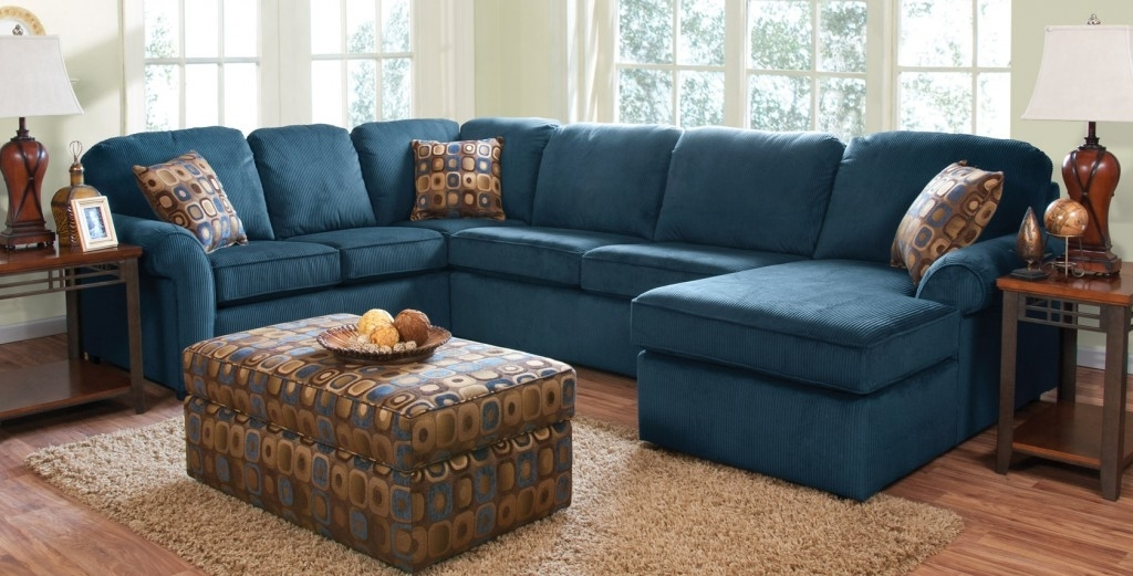 Navy Blue Sectional Sofa For Sale — Radionigerialagos With Regard To Preferred Blue Sectional Sofas (View 9 of 10)