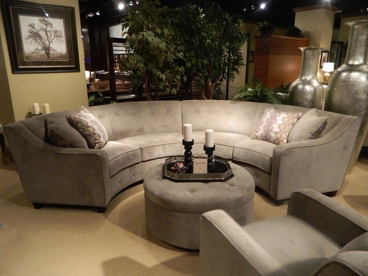 New Gray Silver Round Sectional (View 8 of 10)