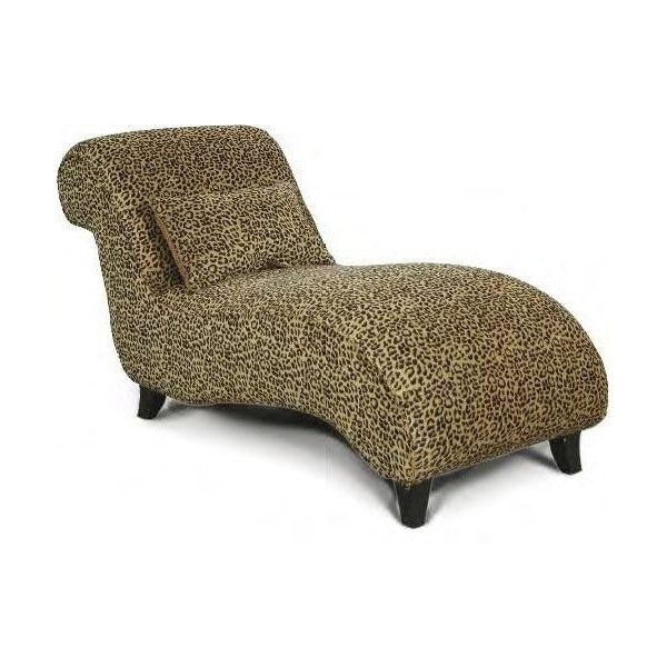 New Leopard Chaise Lounge Chair Animal Print For