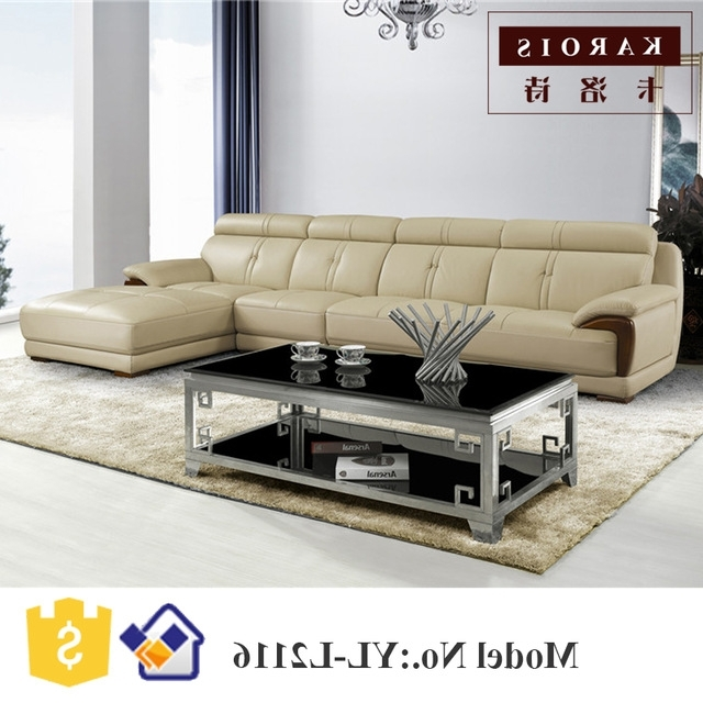 Newest 2017 New Design Modern Living Room Furniture Leather Corner Fancy For Fancy Sofas (Gallery 6 of 10)
