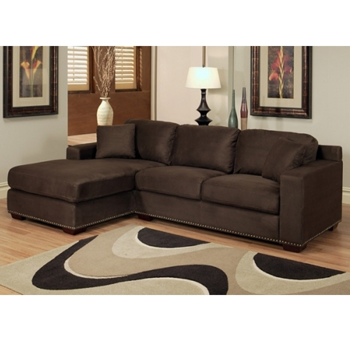 Newest Abson Living Monrovia Sectional Sofa Chaise In Dark Brown Brown For Microfiber Sectional Sofas With Chaise (View 12 of 15)