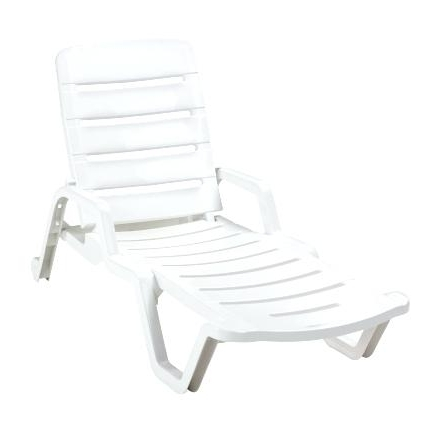 Newest Adams Mfg Corp White Resin Stackable Chaise Lounge Chair Tweet In Kettler Chaise Lounge Chairs (View 12 of 15)
