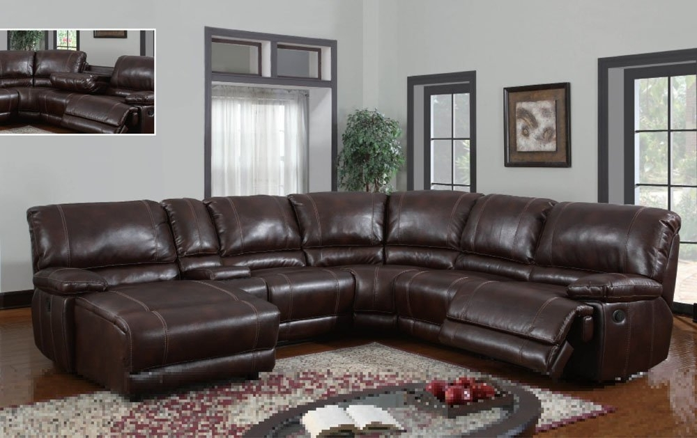 Newest Amazon: Global Furniture Usa U1953 Sectional Global Furniture Inside 6 Piece Leather Sectional Sofas (View 6 of 10)