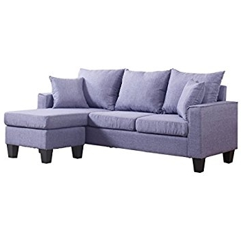 Newest Amazon: Modern Linen Fabric Small Space Sectional Sofa With Intended For Sofas With Reversible Chaise Lounge (View 9 of 15)