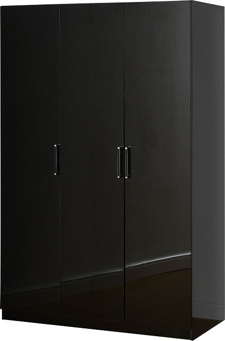 Newest Black Gloss 3 Door Wardrobes Intended For Credit Crunch Carpets Nottingham: – Charisma 3 Door Wardrobe In (View 6 of 15)