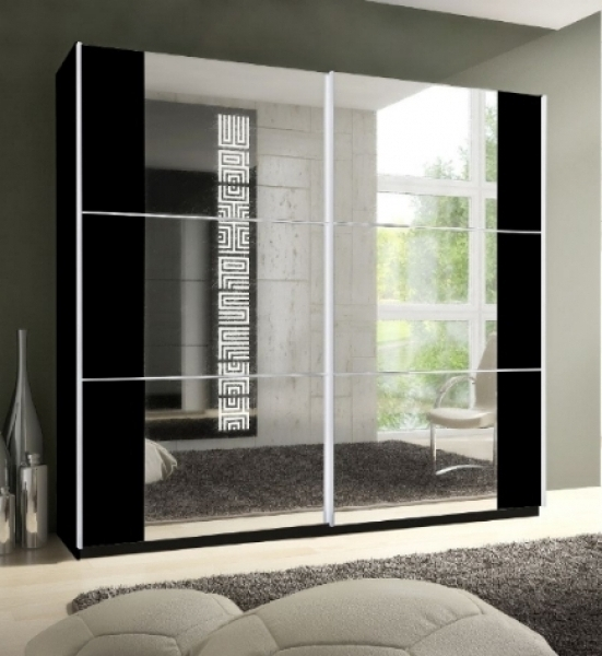 Newest Black Gloss Mirror Wardrobes With Regard To Awesome Black Mirrored Wardrobe Inspirations (View 12 of 15)