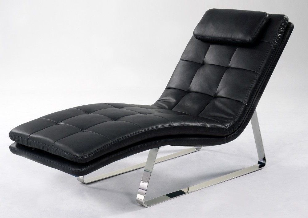 Newest Black Leather Chaise Lounge Chairs With Impressive Black Leather Chaise Lounge Chaise Lounges Amp Swivel (View 3 of 15)