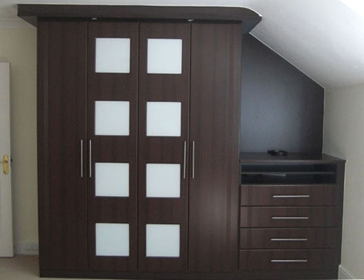 Newest Brown Wardrobes Pertaining To Bespoke Fitted Wardrobes For Lofts In Middlesex, Uk (View 5 of 15)
