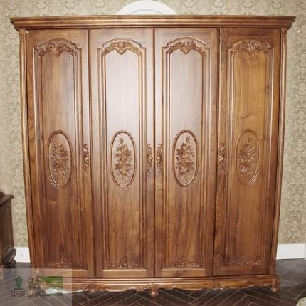 Newest Cheap Wooden Wardrobes Pertaining To Buy William Wong Grapefruit Old Teak Wardrobe Closet Wardrobe Teak (View 8 of 15)
