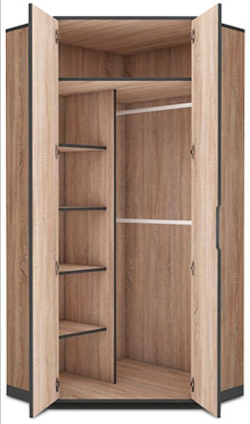 Newest Delta 2 Door Corner Wardrobe Cupboard – Top Quality Cheapest Price With 2 Door Corner Wardrobes (View 11 of 15)