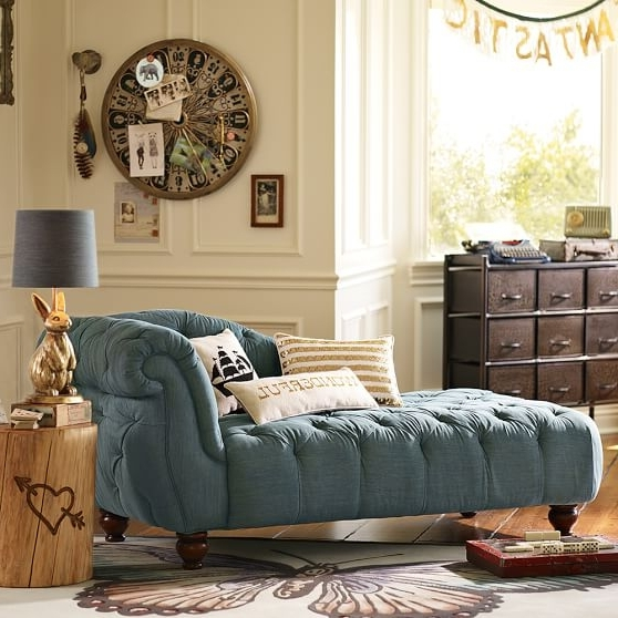 """Newest Emily Chaises Throughout The Emily & Meritt Denim Chaise (70"""") (View 10 of 15)"""