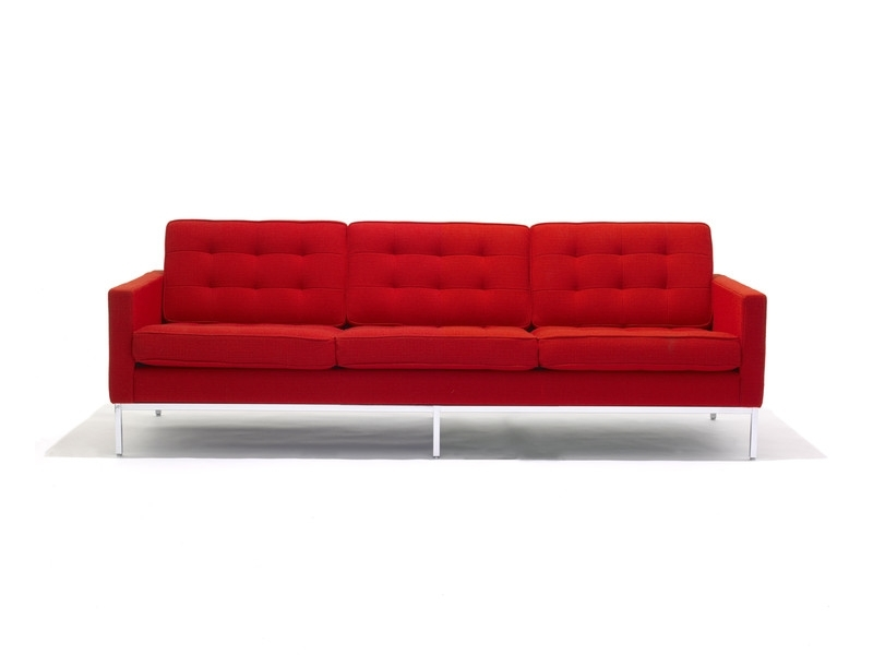 Newest Florence Knoll 3 Seater Sofas Inside Buy The Knoll Studio Knoll Florence Knoll Three Seater Sofa At (View 7 of 10)