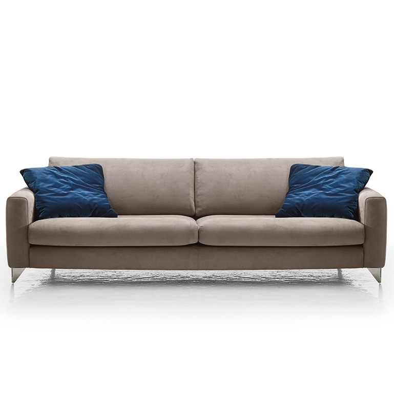 Newest Florence Modern Italia Sofa, Grey Regarding Florence Sofas (View 7 of 10)
