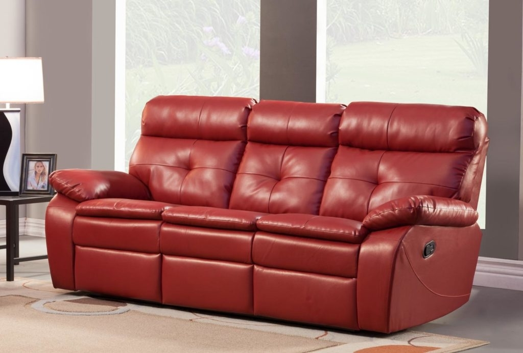 Newest Great Red Leather Reclining Sofa And Loveseat 66 About Remodel For Red Leather Reclining Sofas And Loveseats (View 15 of 17)