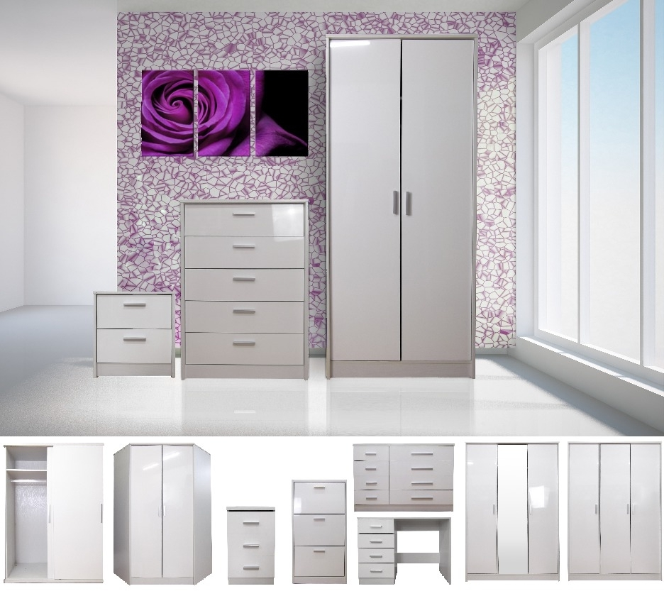 Newest High Gloss Doors Wardrobe White Sliding Wardrobes That Can Make With Pink High Gloss Wardrobes (View 8 of 15)