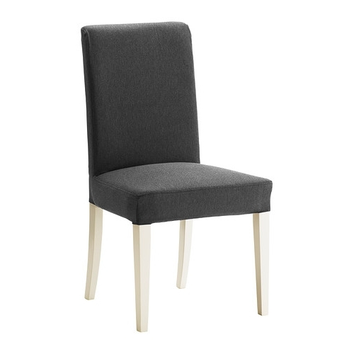 Newest Ikea Chaises With Henriksdal Chaise – Dansbo Gris Foncé, Blanc – Ikea (View 13 of 15)