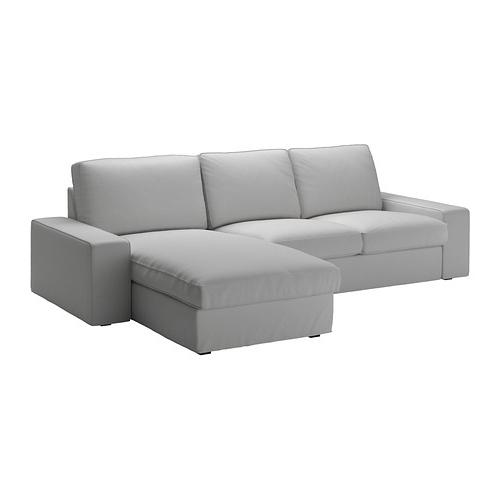Newest Ikea Kivik Chaises Pertaining To Kivik Sofa – With Chaise/orrsta Light Gray – Ikea (View 13 of 15)