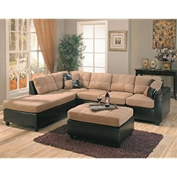 Newest L Shaped Sofas Intended For Amazon: Harlow Right L Shaped Two Tone Sectional Sofa (View 10 of 10)