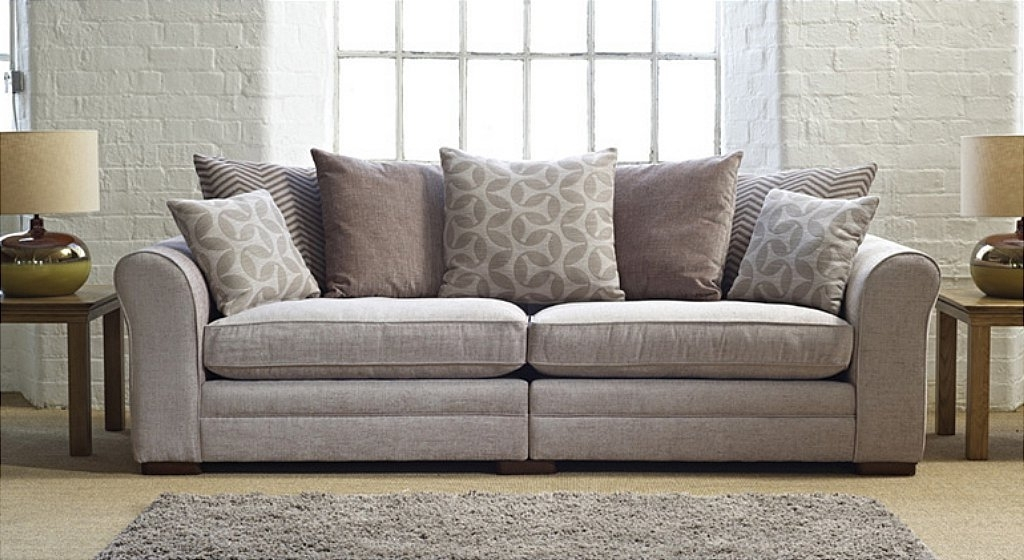 Newest Large 4 Seater Sofas In Drapers Furnishers – Ashley Manor: Seville 2 Fabric Sofa (Gallery 1 of 10)