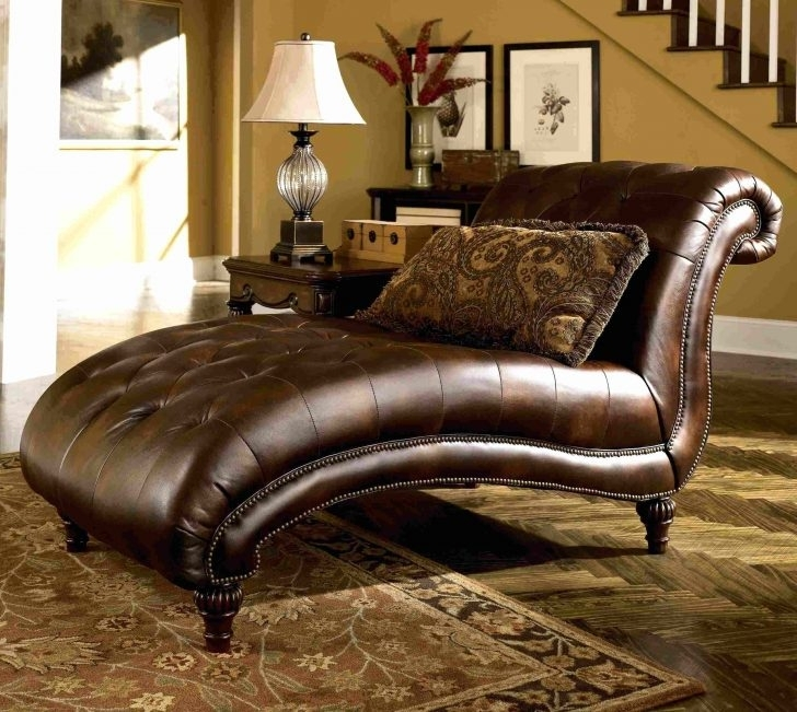 Newest Leather Chaises Pertaining To Chaise : Modern Leather Chaise Lounge Chaises And Daybeds Stylish (View 11 of 15)