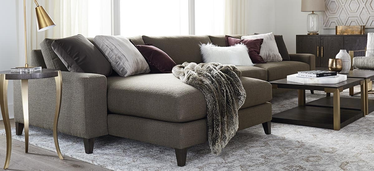 Newest Long Chaise Sofas Within Fabric Sectionals (View 9 of 10)