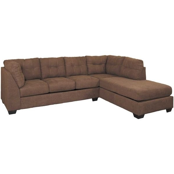 Newest Maier Walnut 2 Piece Sectional With Laf Chaise (View 6 of 15)