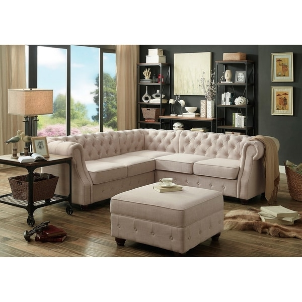 Newest Moser Bay Furniture Olivia Tufted Sectional Sofa – Free Shipping Within Tufted Sectional Sofas (Gallery 8 of 10)