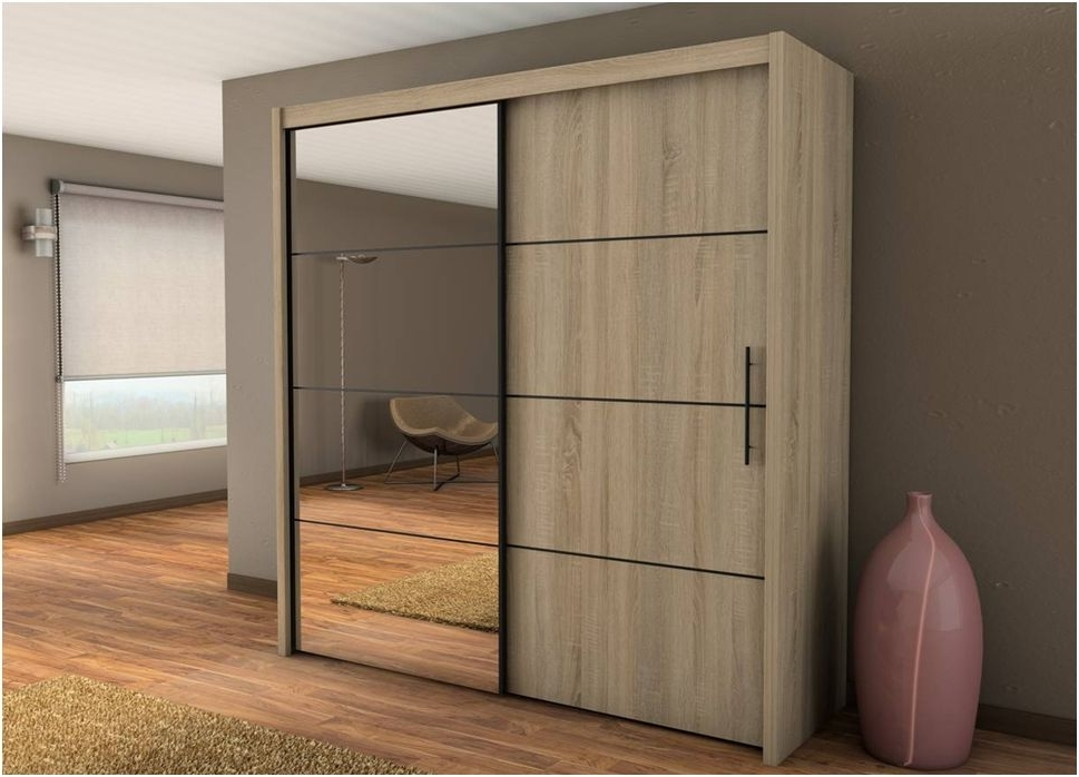 Newest Oak 3 Door Wardrobes Within Wardrobe Set – 3 Door Sliding Wardrobe With Sliding Doors (View 8 of 15)