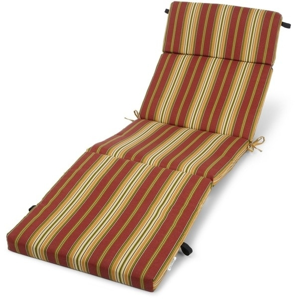 Newest Outdoor Chaise Cushions Inside Outdoor Chaise Lounge Cushion – Free Shipping Today – Overstock (View 9 of 15)