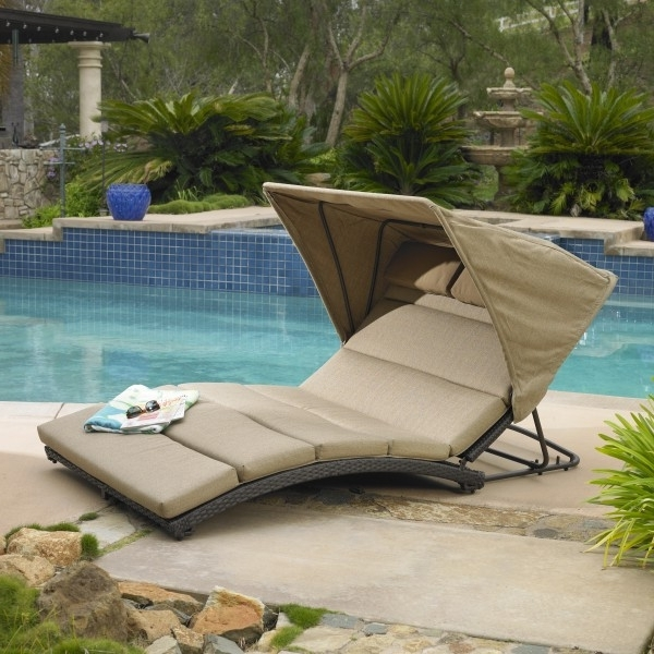 Newest Outdoor Chaise Lounge Chairs With Canopy Inside Oceanview Double Chaise Lounge With Canopy (View 8 of 15)
