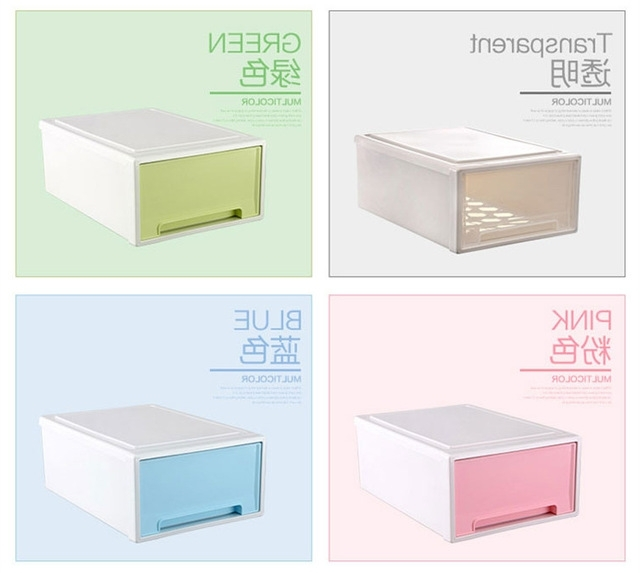 Newest Plastic Wardrobes Box Regarding Drawer Cabinets Plastic Storage Box Free Stacking Drawer Boxes (View 12 of 15)
