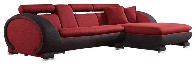 Newest Red Black Sectional Sofas With Regard To Sofa Beds Design: Simple Traditional Red And Black Sectional Sofa (View 6 of 10)