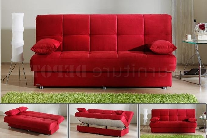 Newest Red Sofa Sleeper (View 5 of 10)