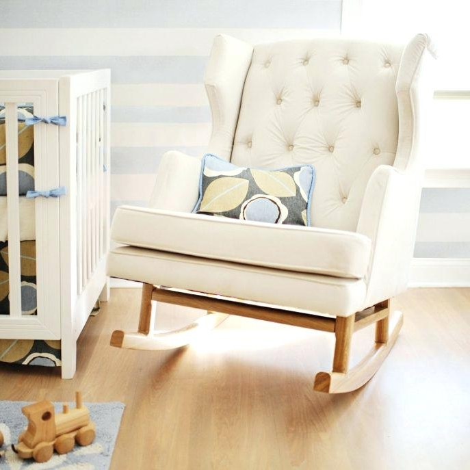 Newest Rocking Sofa Chairs Pertaining To Rocking Sofa Chair Medium Size Of Wooden Rocking Chair For Nursery (View 3 of 10)