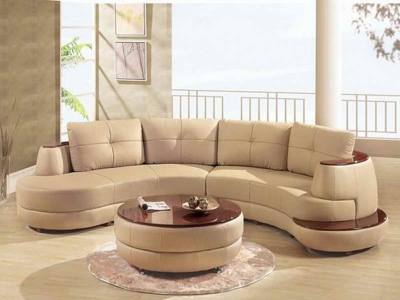 Newest Rounded Corner Sectional Sofas With Furniture : Lether Corner Sectional Curved Sofa Set With Cappucino (Gallery 3 of 10)